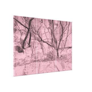 Skräddarsy skogen för träd för canvastryck