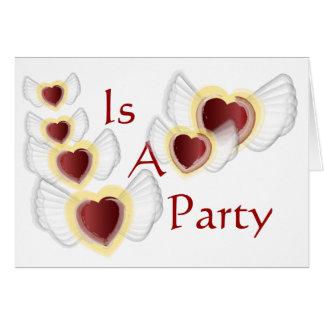 Skräddarsy valentin partyInbjudan Hälsningskort