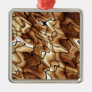 Skraj beige mönster julgransprydnad metall