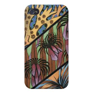 Skraj blom- stam- tryck iPhone 4 hud