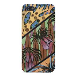 Skraj blom- stam- tryck iPhone 5 fodral