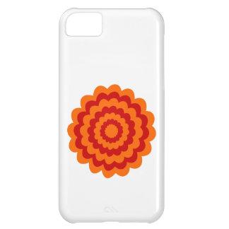 Skraj blomma i orange och Red. iPhone 5C Mobil Fodral