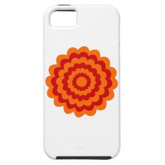 Skraj blomma i orange och Red. iPhone 5 Cases