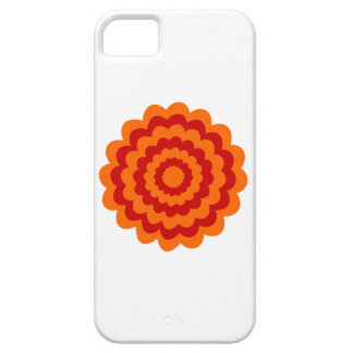 Skraj blomma i orange och Red. iPhone 5 Case-Mate Skydd