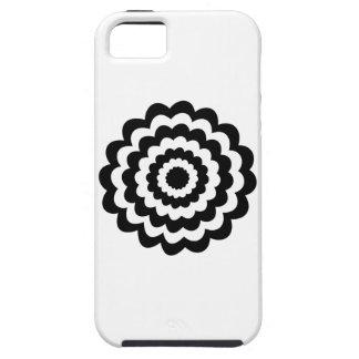 Skraj blomma i svart och White. iPhone 5 Skydd