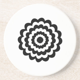 Skraj blomma i svart och White. Underlägg