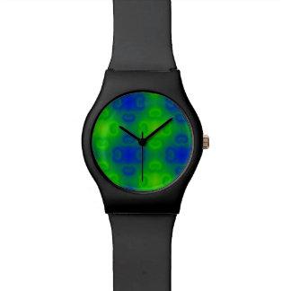 Skraj Blur för grönt för blått för neon för 70-tal