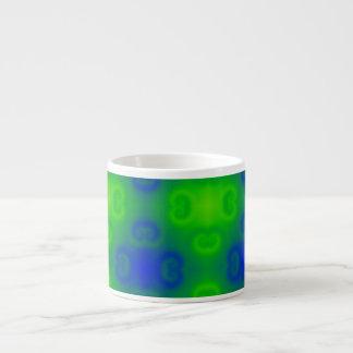 Skraj Blur för grönt för blått för neon för 70-tal Espressomugg