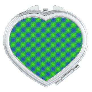 Skraj Blur för grönt för blått för neon för 70-tal Kompakt Spegel