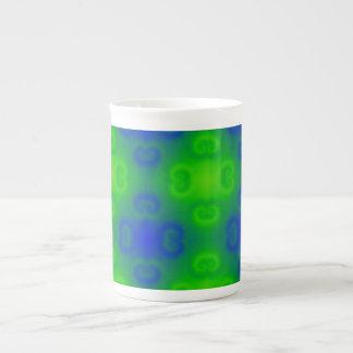 Skraj Blur för grönt för blått för neon för 70-tal Tekopp