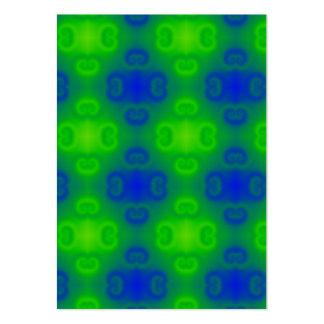 Skraj Blur för grönt för blått för neon för 70-tal Set Av Breda Visitkort