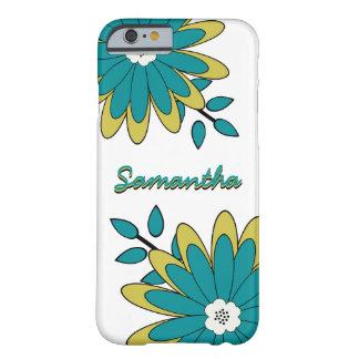 Skraj Boho chic ljus blommigt med monogrammärkning Barely There iPhone 6 Fodral