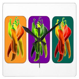Skraj chilikök tar tid på fyrkantig klocka
