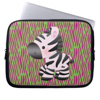 Skraj djur trycklaptop sleeve för sebra & för stru laptop datorfodral