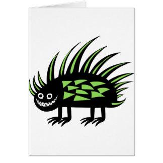Skraj färgglad porcupine f för Smiley Hälsningskort