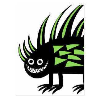 Skraj färgglad porcupine f för Smiley Vykort