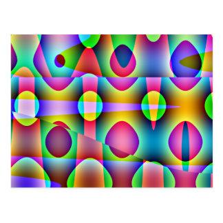 Skraj färgrik abstrakt vykort