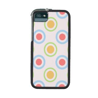 Skraj färgrikt cirklar mönster iPhone 5 mobil fodral