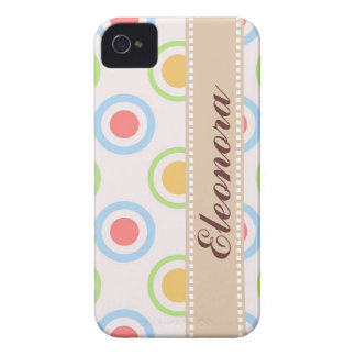 Skraj färgrikt cirklar mönster Case-Mate iPhone 4 skal