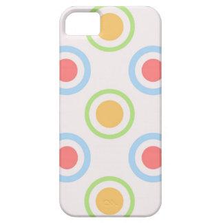 Skraj färgrikt cirklar mönster iPhone 5 cases