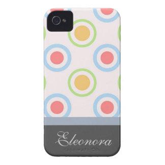 Skraj färgrikt cirklar mönster iPhone 4 cover