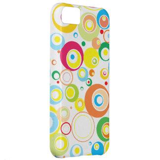 Skraj färgrikt Retro cirklar fodral för iPhone 5 iPhone 5C Fodral