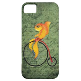 Skraj fisk på en encentmyntFarthing iPhone 5 Case-Mate Skydd