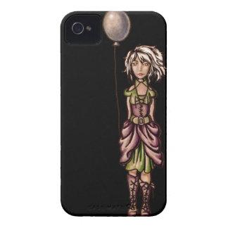 Skraj flickatecknadteckning med ballongen Case-Mate iPhone 4 skal