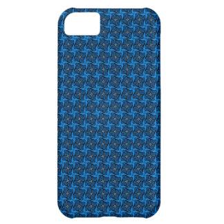 Skraj fodral för blåttmönsteriPhone 5 iPhone 5C Mobil Skydd