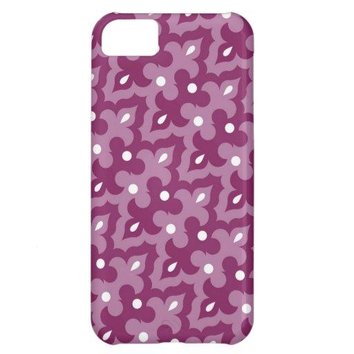 Skraj fodral för lilamönsteriPhone 5 iPhone 5C Skal