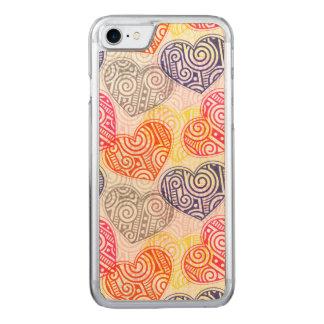 Skraj hjärtor carved iPhone 7 skal