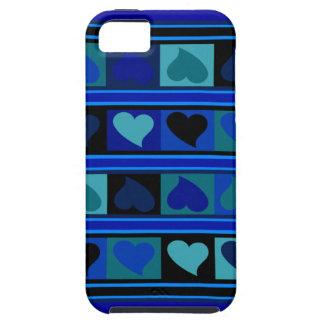 Skraj hjärtor och kvadrerar krickan för den   iPhone 5 skydd