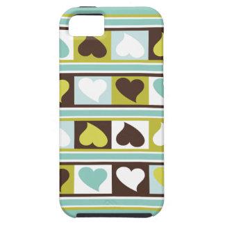 Skraj hjärtor och kvadrerar sellerit för den   iPhone 5 Case-Mate fodral