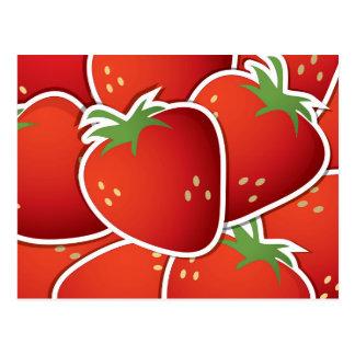 Skraj jordgubbar vykort
