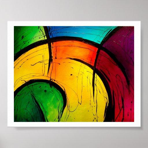 Skraj ljus abstrakt konstaffisch affisch