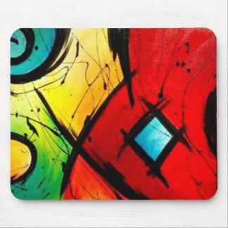 Skraj ljus abstrakt konstmålning musmatta