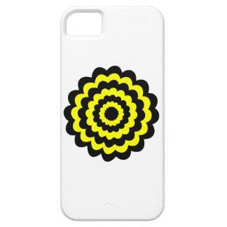 Skraj ljus gult- och svartflower. iPhone 5 cover