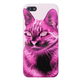 Skraj magentafärgad kattnegation iPhone 5 cases