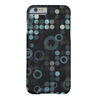 Skraj manliga grå färgblått cirklar den barely there iPhone 6 fodral