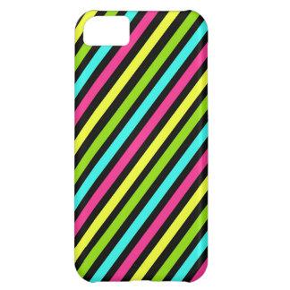 Skraj mönster för neonDiagonalrandar iPhone 5C Fodral