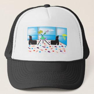 Skraj nyckfulla färgrika Miami som är grafisk Keps