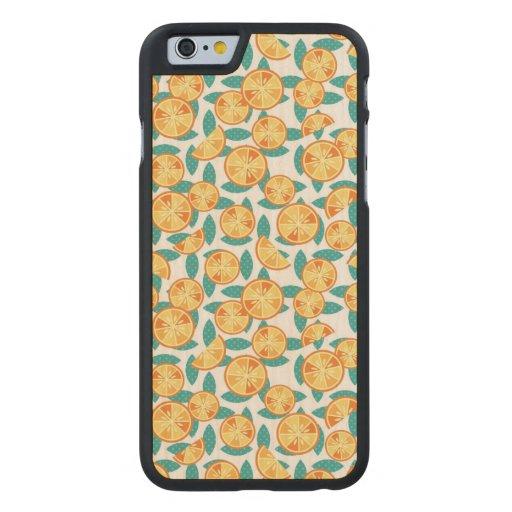 Skraj orangar carved® lönn iPhone 6 fodral
