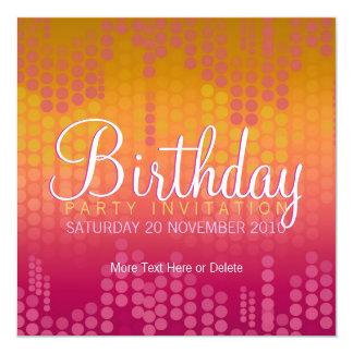 Skraj orange inbjudan för rosapartyfödelsedag