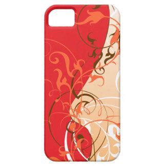 Skraj orange och rött iPhone 5 fodral