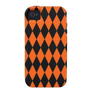 Skraj orange- och svartdiamantHarlequinmönster