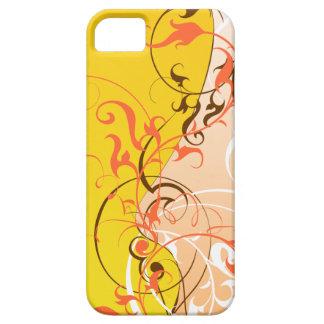 Skraj orange på gult iPhone 5 fodraler