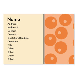Skraj orange retro modell set av breda visitkort
