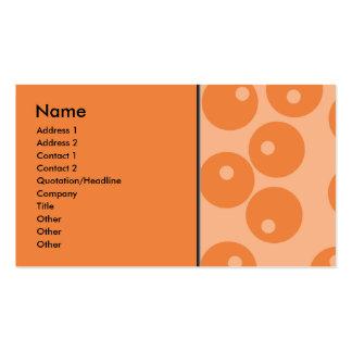 Skraj orange retro modell visitkort mallar