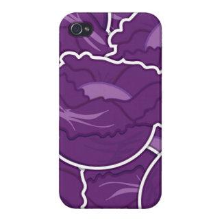 Skraj purpurfärgad kål iPhone 4 skal