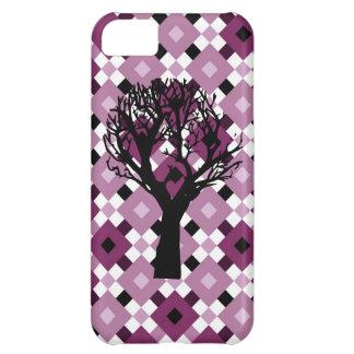 Skraj purpurfärgat fodral för diamantmönsteriPhone iPhone 5C Mobil Skydd
